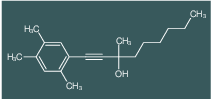 3-Methyl-1-(2,4,5-trimethyl-phenyl)-non-1-yn-3-ol