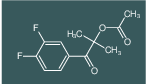 1-(3,4-difluorophenyl)-2-methyl-1-oxopropan-2-yl acetate