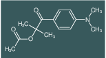 1-(4-(dimethylamino)phenyl)-2-methyl-1-oxopropan-2-yl acetate
