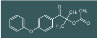 2-methyl-1-oxo-1-(4-phenoxyphenyl)propan-2-yl acetate