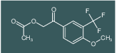 2-(4-methoxy-3-(trifluoromethyl)phenyl)-2-oxoethyl acetate