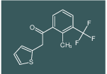 1-(2-methyl-3-(trifluoromethyl)phenyl)-2-(thiophen-2-yl)ethanone