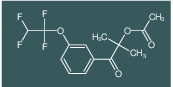 2-methyl-1-oxo-1-(3-(1,1,2,2-tetrafluoroethoxy)phenyl)propan-2-yl acetate