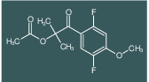 1-(2,5-difluoro-4-methoxyphenyl)-2-methyl-1-oxopropan-2-yl acetate