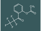 2-(2,2,3,3,3-pentafluoropropanoyl)phenyl acetate