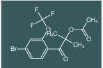 1-(4-bromo-2-(trifluoromethoxy)phenyl)-2-methyl-1-oxopropan-2-yl acetate