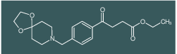 ethyl 4-[4-[8-(1,4-dioxa-8-azaspiro[4.5]decyl)methyl]phenyl]-4-oxobutyrate