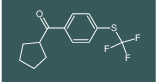 4-(TRIFLUOROMETHYLTHIO)PHENYL CYCLOPENTYL KETONE