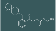 ethyl 4-[2-[8-(1,4-dioxa-8-azaspiro[4.5]decyl)methyl]phenyl]-4-oxobutyrate